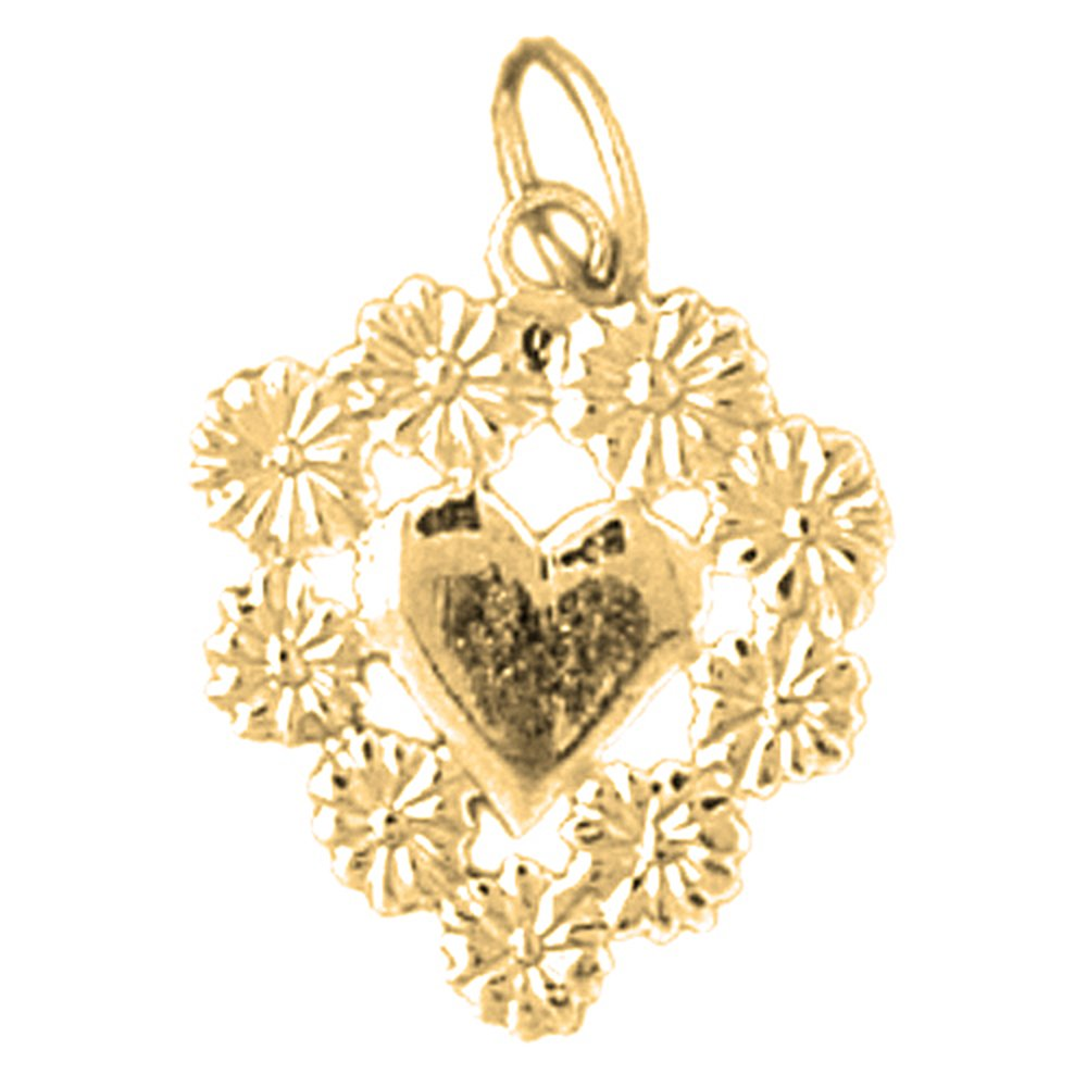Jewels Obsession Floating Heart Pendant 18 mm Sterling Silver 925 Floating Heart Pendant