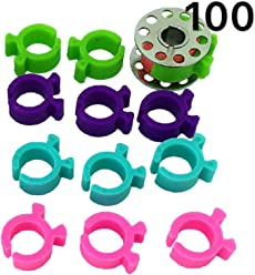 PeavyTailor 20pcs Bobbin Buddies Bobbin Holder Clamp Thread Organizer Matching Thread Spools Together for Brother Sewing Machine Thread Rack #4