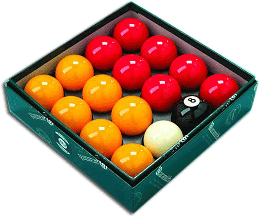 Aramith Premier Ligue red-yellow 2  Boules de billard avec 4.8cm Blanc