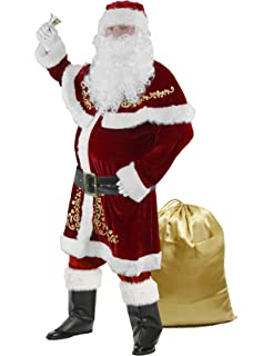 Amazon.com: Rubie s Costume super deluxe Old-Time Papá Noel ...