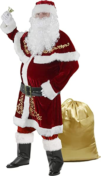Father Christmas Santa Claus Gold Bell Fancy Dress Party Costume Accessory
