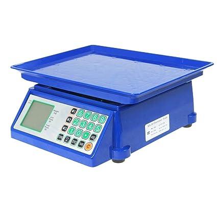 833119 Báscula Electrónica Digital para Pesar Frutas y Verduras de hasta 30kg/5g y Calcular