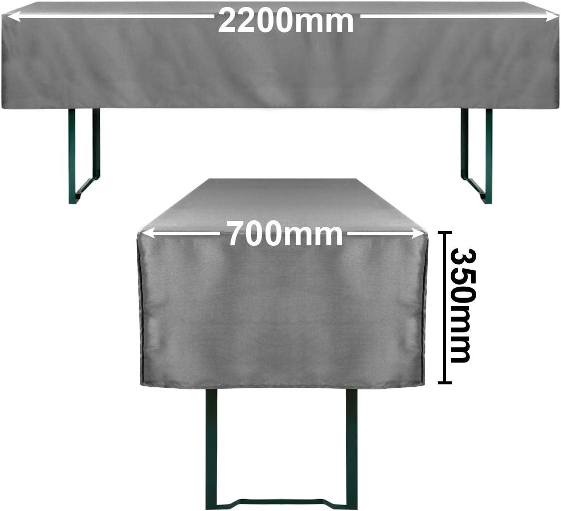 70cm or 50cm Table Width /Öko-Tex Standard 100 Approved Gr/äfenstayn/® Valentin Beer Table Set Cover Cream, 70x220cm