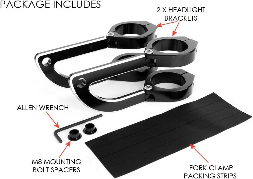 40-41mm Supports de Phare Fourche Pinces pour Moto Trike Aluminium CNC Haute Qualit/é