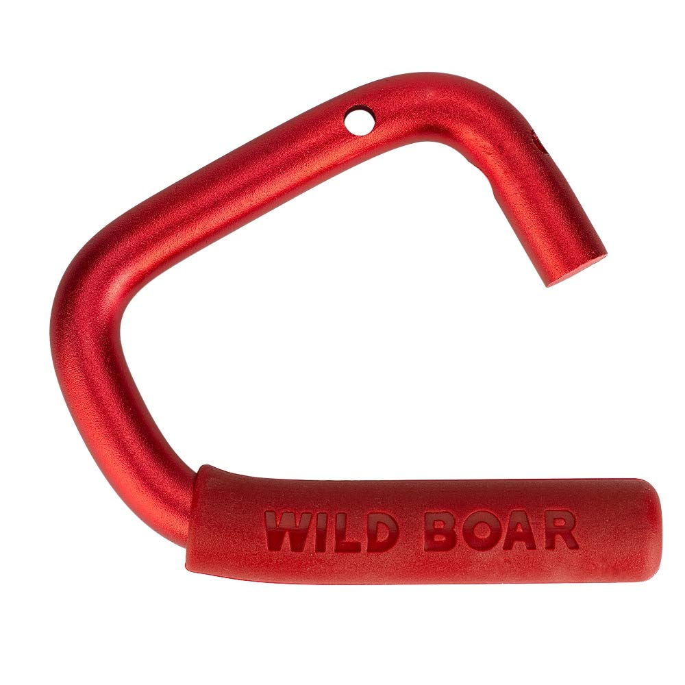 Red Jtron Car Wild Boar Front Grab Handles Grab Bar Rear Front Grab Black Safety Handle for Jeep Wrangler 07-17