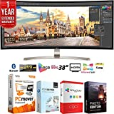 LG 38UC99-W 38' 21:9 WQHD+ 3840 x 1600 Curved IPS Monitor + Elite Suite 18 Standard Editing Software Bundle + 1 Year Extended Warranty