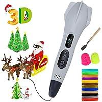 Pluma para impresión 3D,con Pantalla LCD y Control de Temperatura, Compatible con filamentos de PLA&ABS para Impresión 3D Regalo para Niños y Adultos,regalo de Navidad