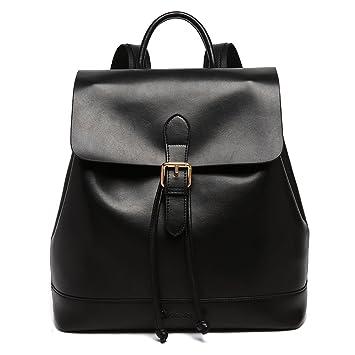 fb8a59768fe BOSTANTEN Casual Leather Backpack Purse Satchel Shoulder School Bags for  Women (black-1)