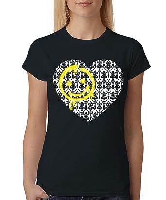 -- Sherlock - Smiley Tapete -- Girls T-Shirt auch im Unisex Schnitt:  Amazon.de: Bekleidung