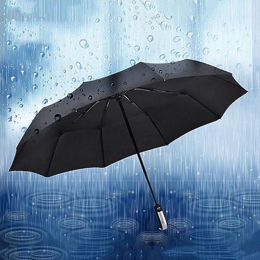 XdiseD9Xsmao Sombrilla Plegable Port/átil Duradera Autom/ática para Sol Resistente Al Agua Gran Sombrilla De Viaje Impermeable A Prueba De Viento para Hombres Mujeres Armada