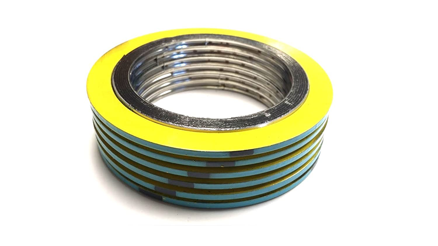 Turquoise 2.88 Outside Diameter 1.25 Inside Diameter 321SS//FG Inc Teadit 90001321GR600 Spiral Wound Gasket Sur-Seal Flexible Graphite -150 to 850 Degree Fahrenheit Temperature Range for 1 Pipe Size