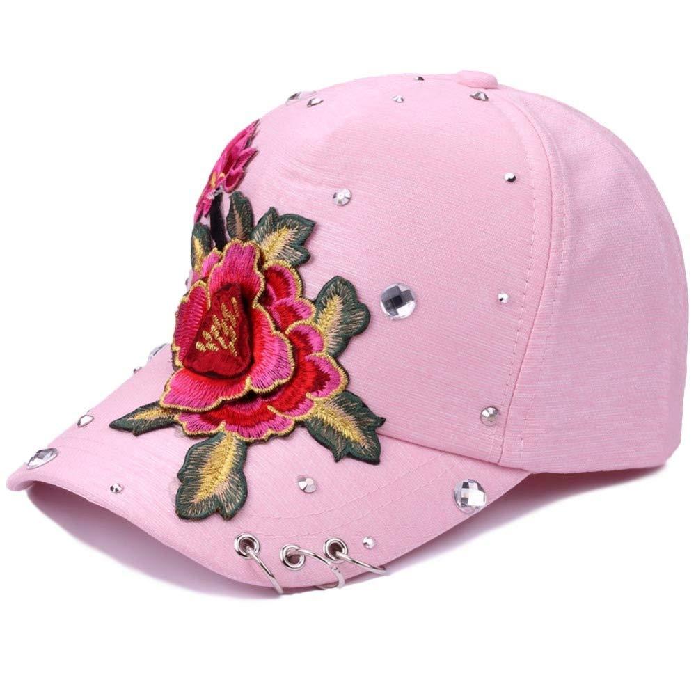zhuzhuwen Sombrero de Diamante Flor Gorra de béisbol aro Moda ...