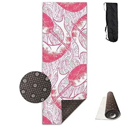 Amazon.com: Pink Narwhal Circles, Eco-Friendly Non-Slip Yoga ...