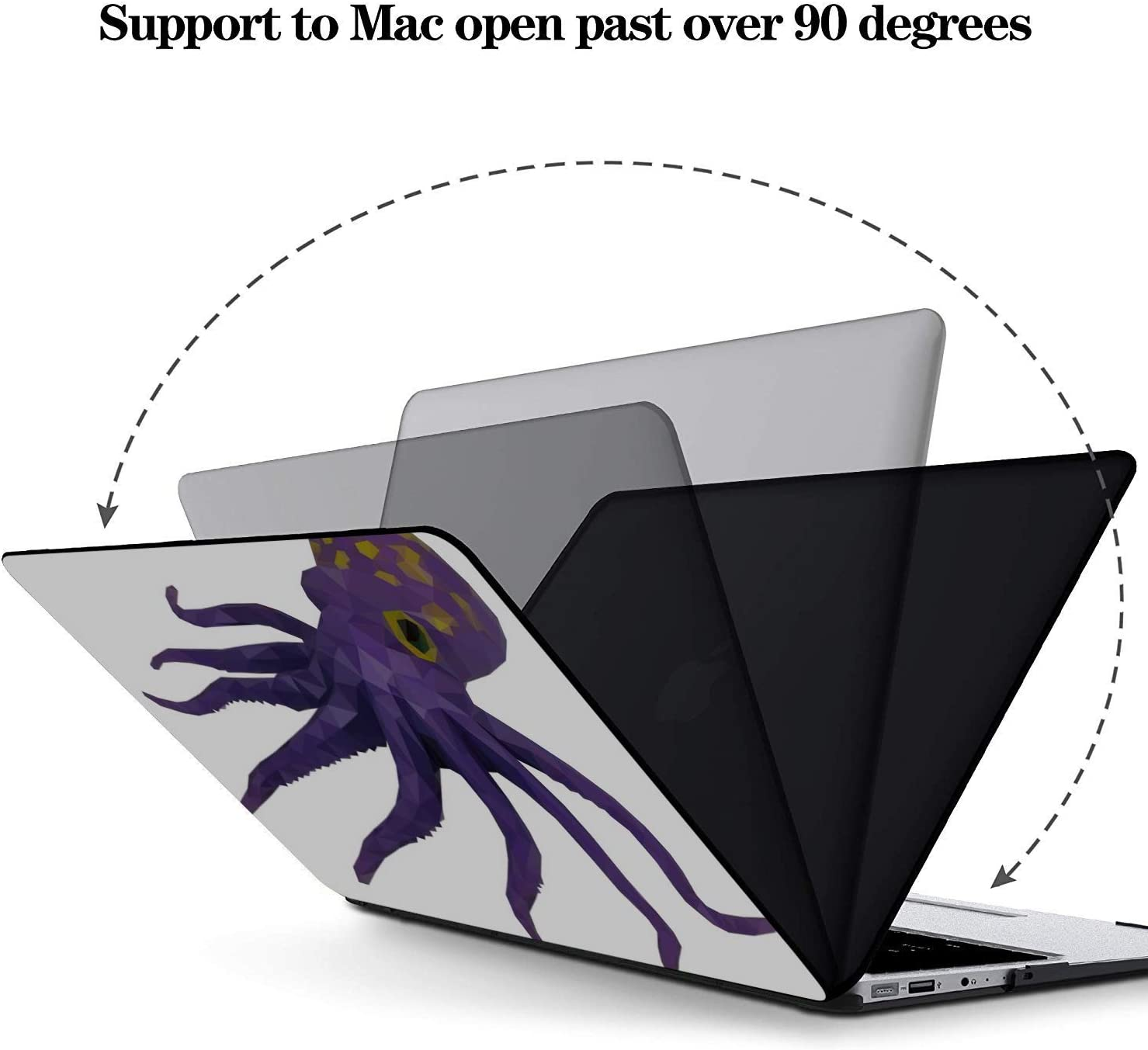 MacBook Cover 13 Inch Cartoon Sea Ocean Octopus Character Plastic Hard Shell Compatible Mac Air 11 Pro 13 15 Hard Laptop Cases Protection for MacBook 2016-2019 Version