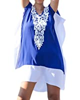 Bestyou Women's Fringe Printed Chiffon Cover up Tunic Tassels Beachwear Free Size