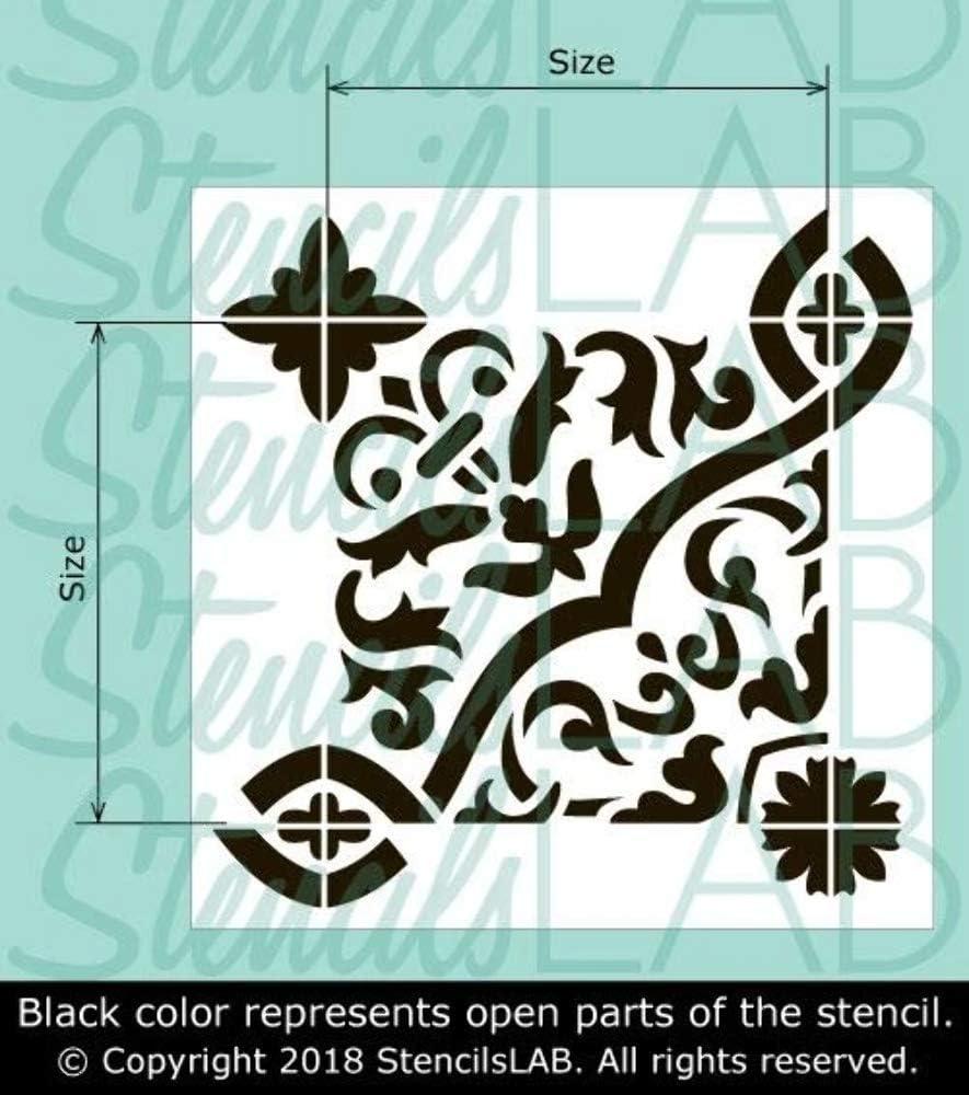 Reusable Stencil Spanish Tile Stencil Juana