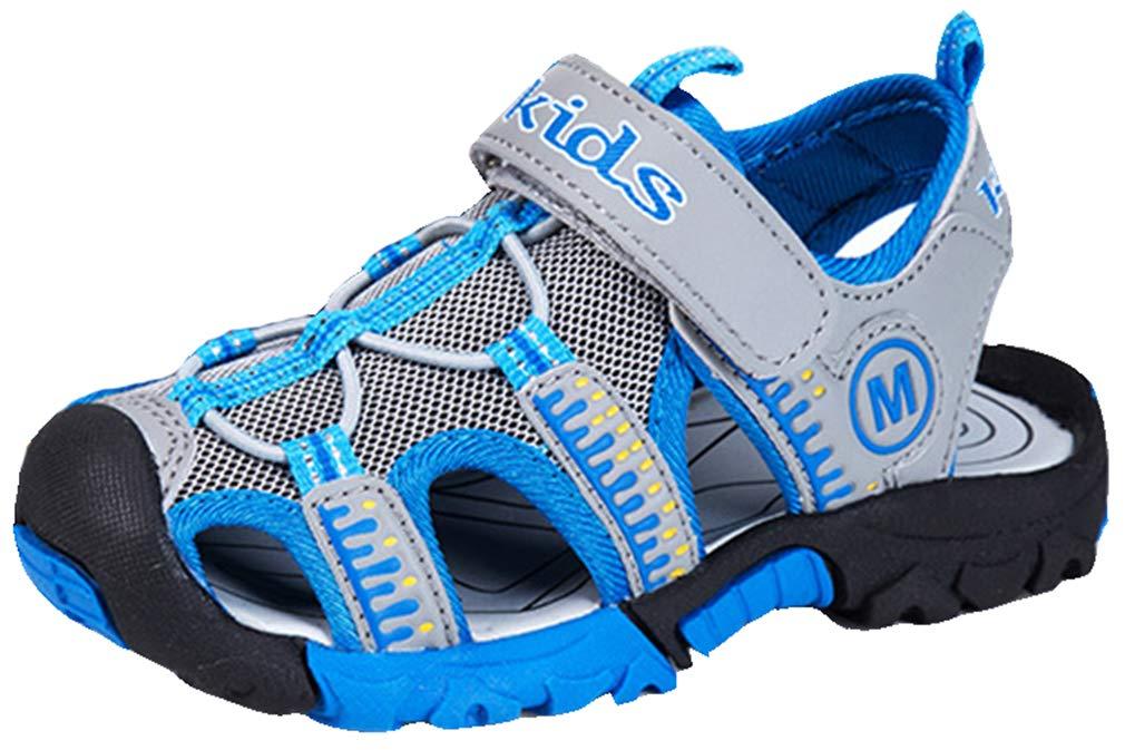 VECJUNIA Boys Non-Slip Athletic Outdoor Sandals Shoes (Little Kid/Big Kid) (Gray, 13 M US Little Kid)