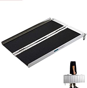 Wheelchair Ramps 4FT, gardhom Extra Wide 31.3' Folding Portable Antiskid Loading Ramp for Scooter Ramps
