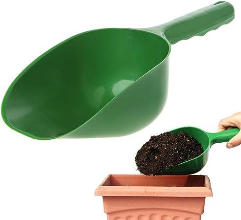 Multifunction Garden Scoop Green Plastic For gardens /& Pet Food-Set of Two
