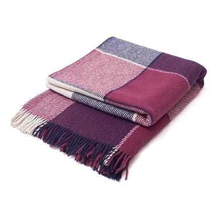 Amazon.com: CG HOME Wool Plaid Blanket Throw Tartan with ...