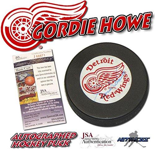 Gordie Howe Autographed Hockey Puck (Gordie Howe Autographed Hockey Puck - JSA #J68871 - Autographed NHL)