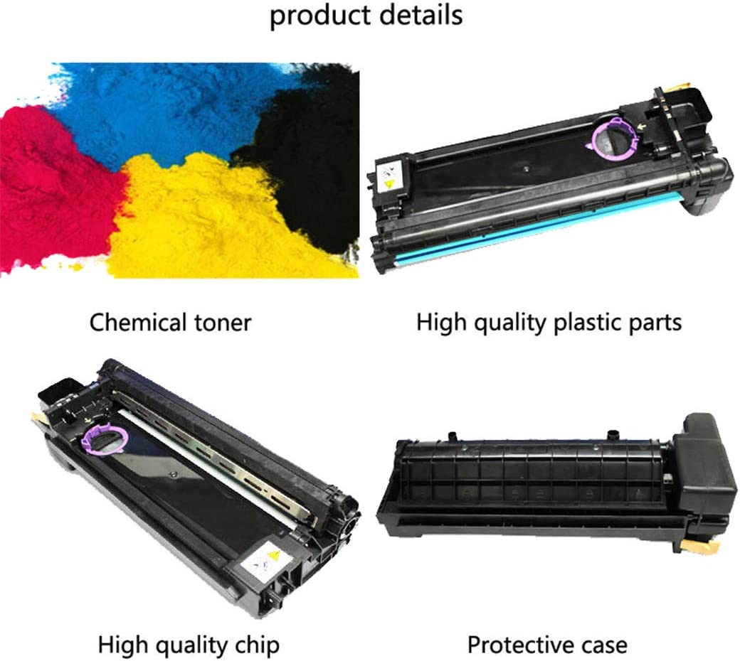 Compatible with Fuji Xerox DC1080 2000 2003 1050 Toner Cartridge Suitable for XeroxCT350869 Drum Kit Black