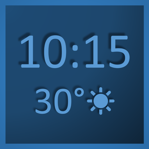 Digital Wall Clock & Weather Station - always on (Best App For Room Temperature)