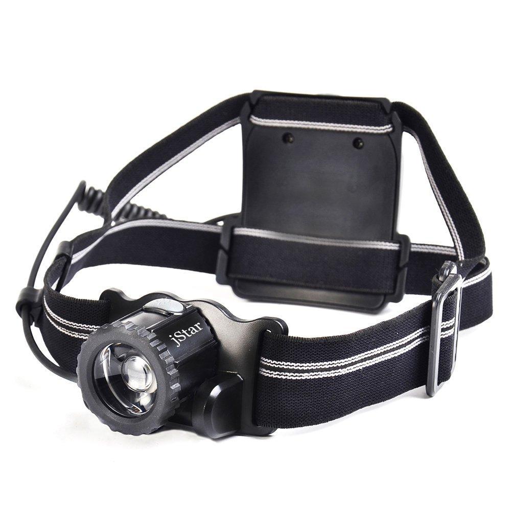 USB Rechargeable Headlamp Flashlight Jstar 300 lumens 360°Rotate Focus adjustable Head Light Work Light