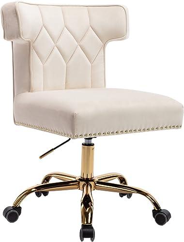 Dolonm Velvet Desk Chair Accent Swivel Office Chair
