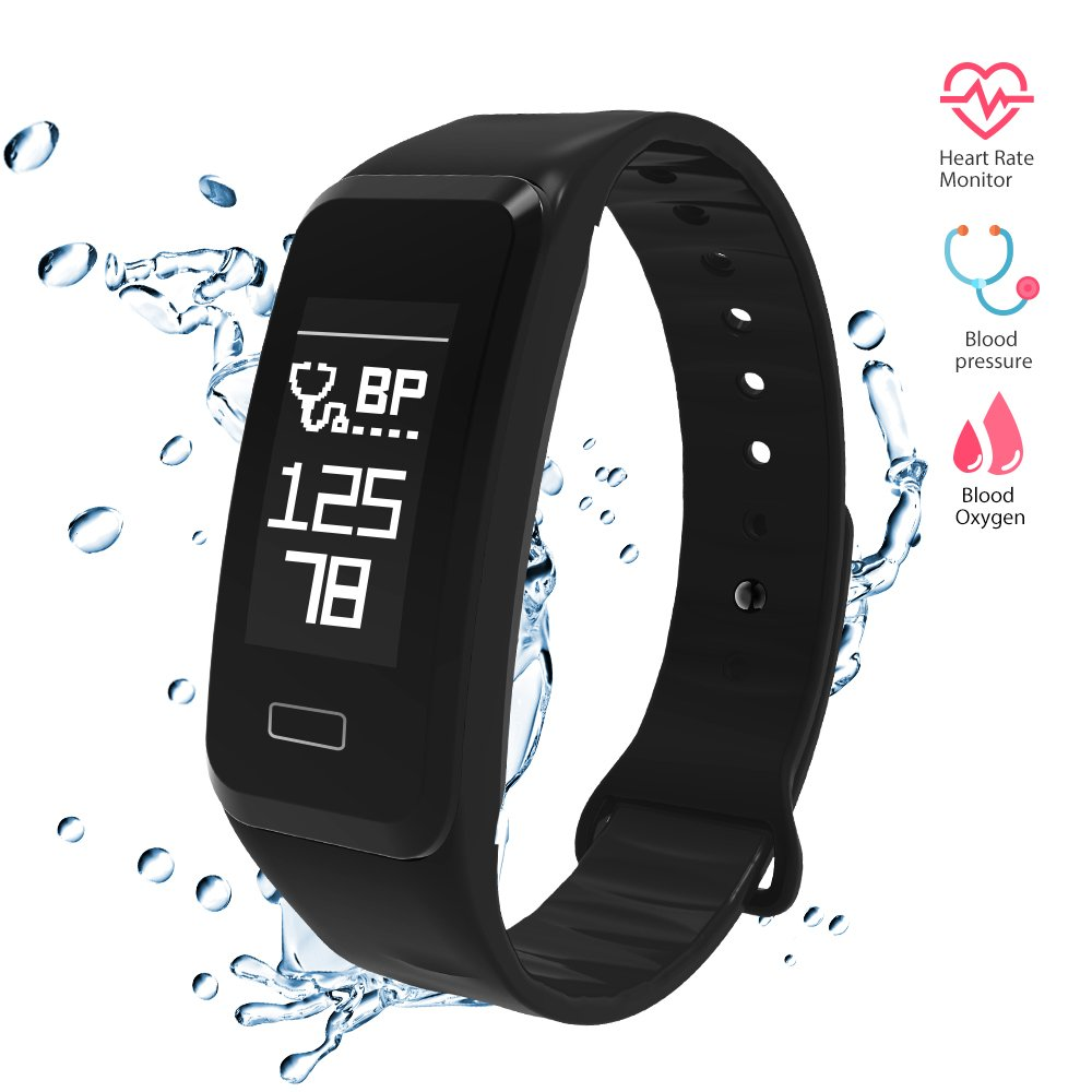 Wireless Fitness Activity Tracker Smart Bracelet Watch Wristband Blood Pressure Heart Rate Calorie Tracker Pedometer Sport Sleep Monitor Waterproof for Android IOS Phone
