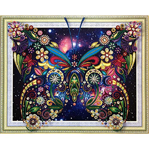 TWBB Diamond Painting Kit 5D DIY Diamond Painting Sets Diamond Painting for Adult or Kid,2019 New Special Shape Diamond (Butterfly Pattern) (Butterfly Pattern)