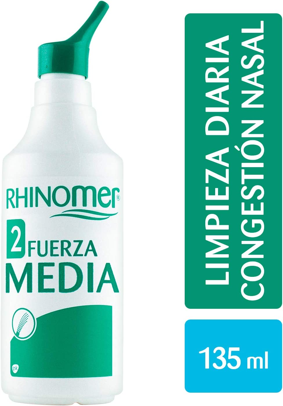 Rhinomer - Spray nasal 100% agua de mar, fuerza media 2, para ...