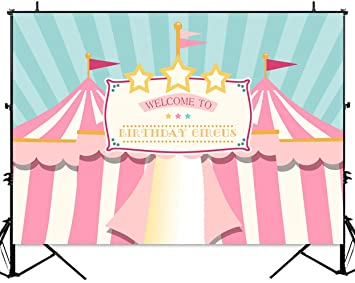 Party Backdrop Printed Photo Booth Backdrop Birthday Photo Backdrop Circus Personalized Photo Backdrop Carnival Photo Backdrop