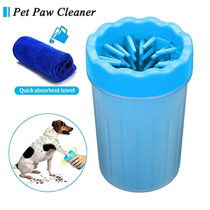 Buy Sam u Dog Foot Cleaner, Portable Pet Foot Washing Cup Soft Silicone Dog  Paw Cleaner Pet Cleaning Brush Cup Tool for Dogs and Cats (M, Blue) Online  at Low Prices in