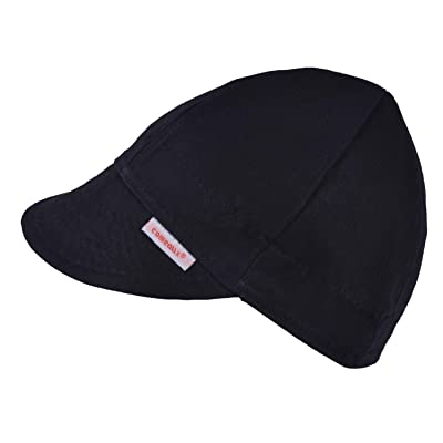Comeaux Caps Reversible Welding Cap Solid Black 7 3/4