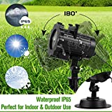 Elec3 Christmas Projector Light, 16 Exclusive Design Slides Landscape Motion Projector Lights with Remote Control, 32ft Power Cable for Decoration Lighting on Halloween Holiday Party