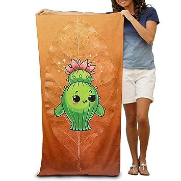 Toalla de baño de Emoji de Cactus suave, lavable a máquina, fácil de limpiar, secado rápido, uso multiusos, calidad de spa, toalla ligera: Amazon.es: Hogar