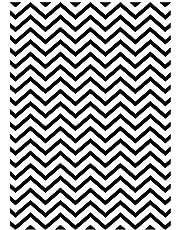 Darice 1218-96 Embossing Folder, 5 by 7-Inch, Chevron Background Design