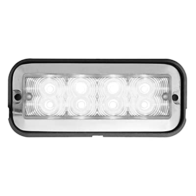 Grand General 81834 White/Clear Medium Rectangular 8 LED Strobe Light: Automotive