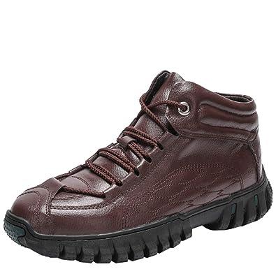 cfb2aa868672a2 Herren Winterstiefel Snow Boots Mid-Rohr Schuhe Verdicken Warm Leder Plus  SAMT Outdoor Rutschfeste Wasserdichte