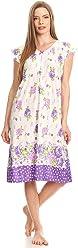 Lati Fashion Womens Nightgown Sleepwear Cotton Pajamas - Woman Sleeveless  Sleep Dress Nightshirt 4c1269b52
