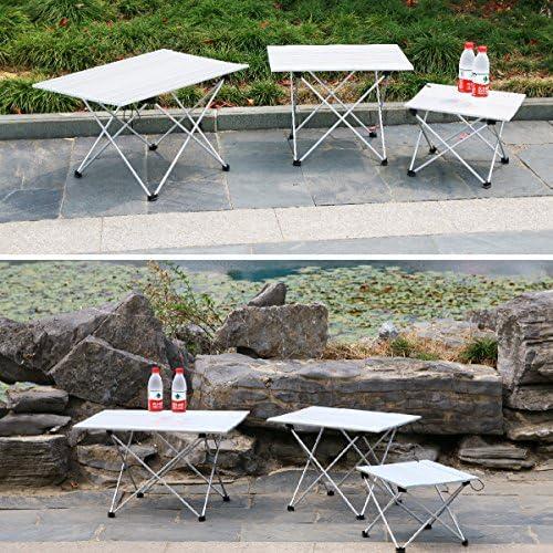 Table De Pliage En Aluminium Compact Roll Up Tables Table De Camping Légère
