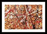 Abstract 2 by Jackson Pollock Framed Stretch Canvas Wall Art Home Decor