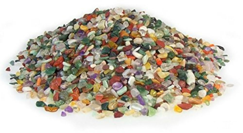 1 Kilo (3mm - 10mm) Mixed Tumblestones Gemstones Crystal Chip Chippings Vase Filler Art Craft Stoned®