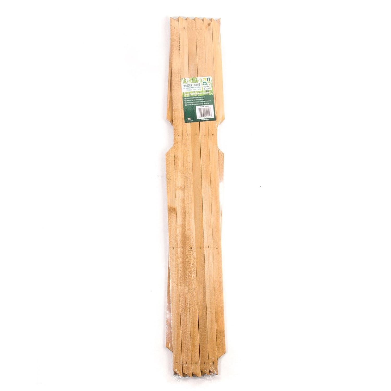 Extending Wooden Trellis (6ft x 2ft) White Hinge