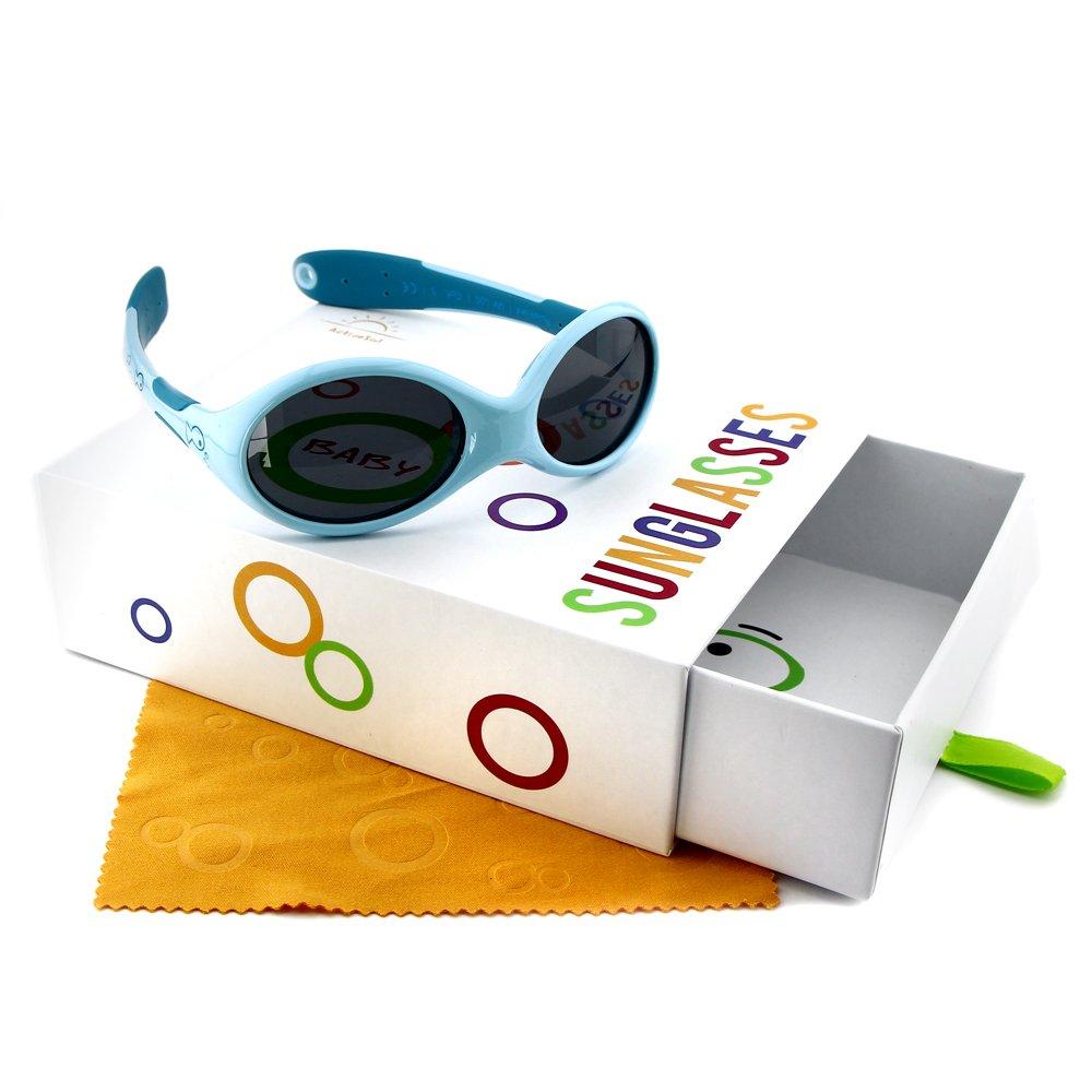 Occhiali da sole per BIMBI PICCOLI Active Sol | RAGAZZI | Protezione 100% UV 400 | polarizzati | indistruttibili in gomma flessibile | 0-2 anni | 18 grammi | bimbo