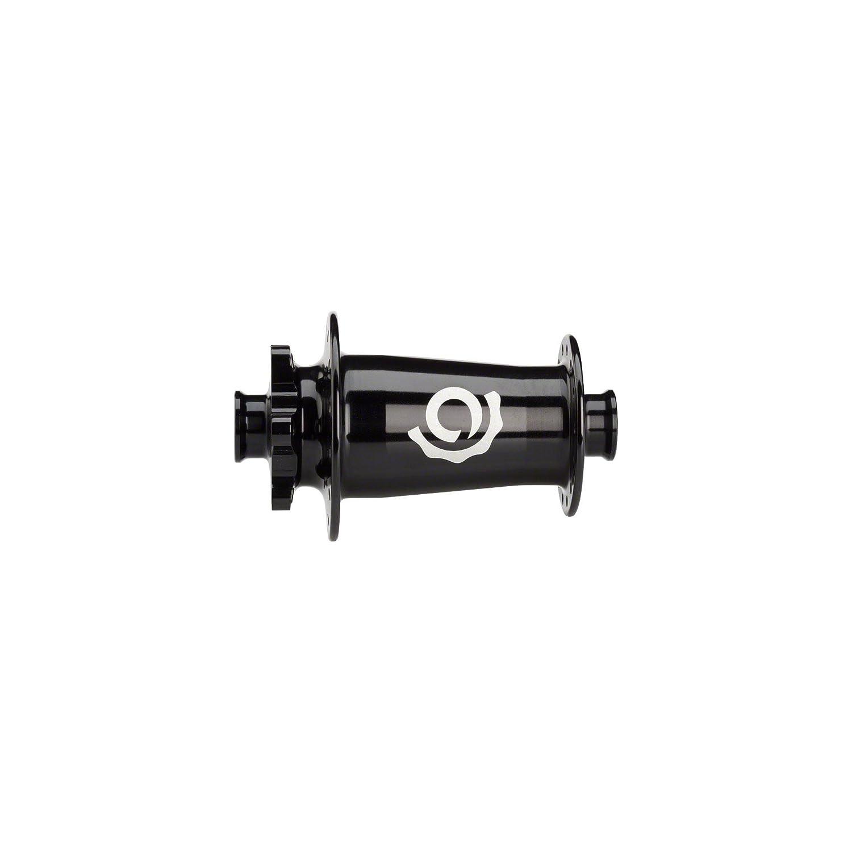 業界NineトーチクラシックMTBフロントハブ: 15 mm x 110 mm Thru Axleブラック B078892C9Y