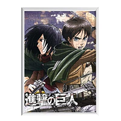 zhentaomaoyi Anime Cartoon Puzzle Jigsaw Puzzle 120 Pieces Wooden Puzzle Children's Educational Toys Puzzles Adult Decompression Toys(Attack on Titan): Office Products