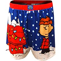 c0b4682a6a Briefly Stated Men's Peanuts Charlie Brown and Snoopy Just Chillin'  Christmas Boxers