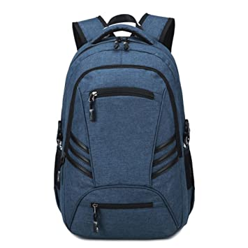 Baisde Hombre Mochila Casual Mochila Ordenador portátil Bolsas de PVC Oxford Tela Viaje Mochila con Interfaz USB Mochila, Blue: Amazon.es: Deportes y aire ...